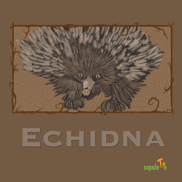 Echidna: Custom Animal Art Trading Card