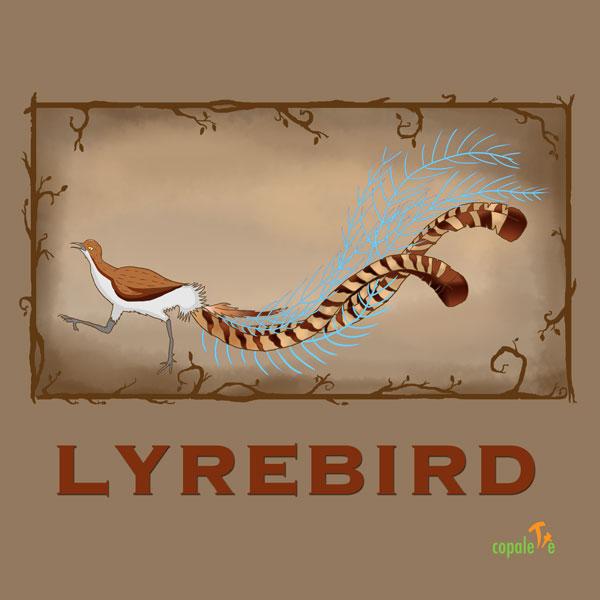 Lyrebird: Custom Animal Art Trading Card
